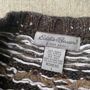Eddie Bauer Sweaters - Eddie Bauer Large Brown Zip Up Sweater